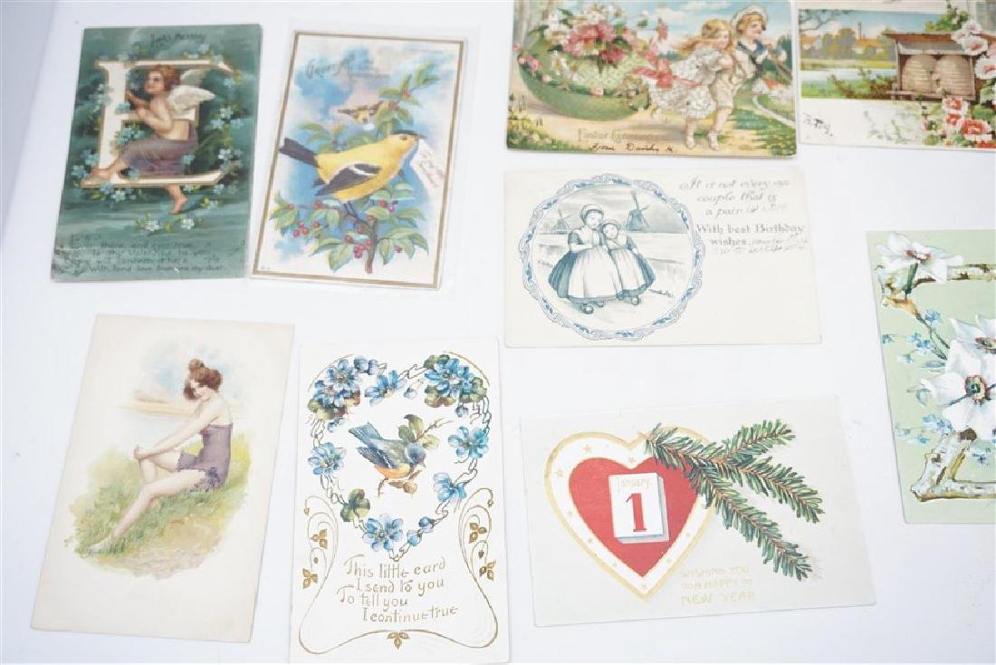 50 VICTORIAN POSTCARDS / CARDS HOLIDAYS - 3
