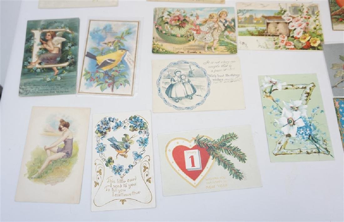 50 VICTORIAN POSTCARDS / CARDS HOLIDAYS - 4
