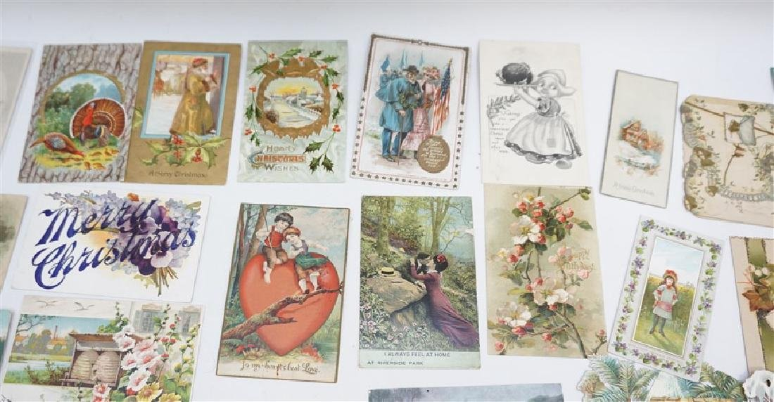50 VICTORIAN POSTCARDS / CARDS HOLIDAYS - 6