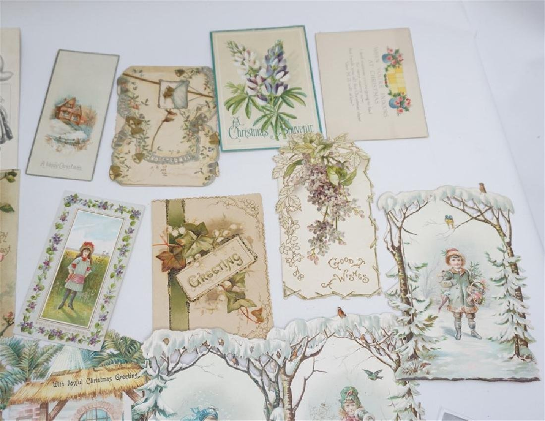 50 VICTORIAN POSTCARDS / CARDS HOLIDAYS - 7