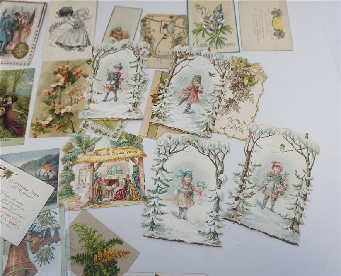 50 VICTORIAN POSTCARDS / CARDS HOLIDAYS - 9