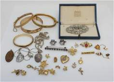 30 PIECE EDWARDIAN  DECO  VINTAGE JEWELRY