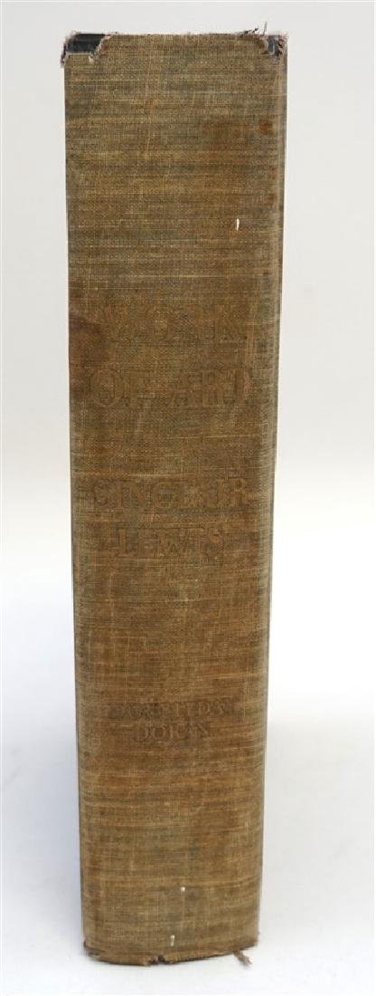 FIRST EDITION SINCLAIR LEWIS WORK OF ART 1934