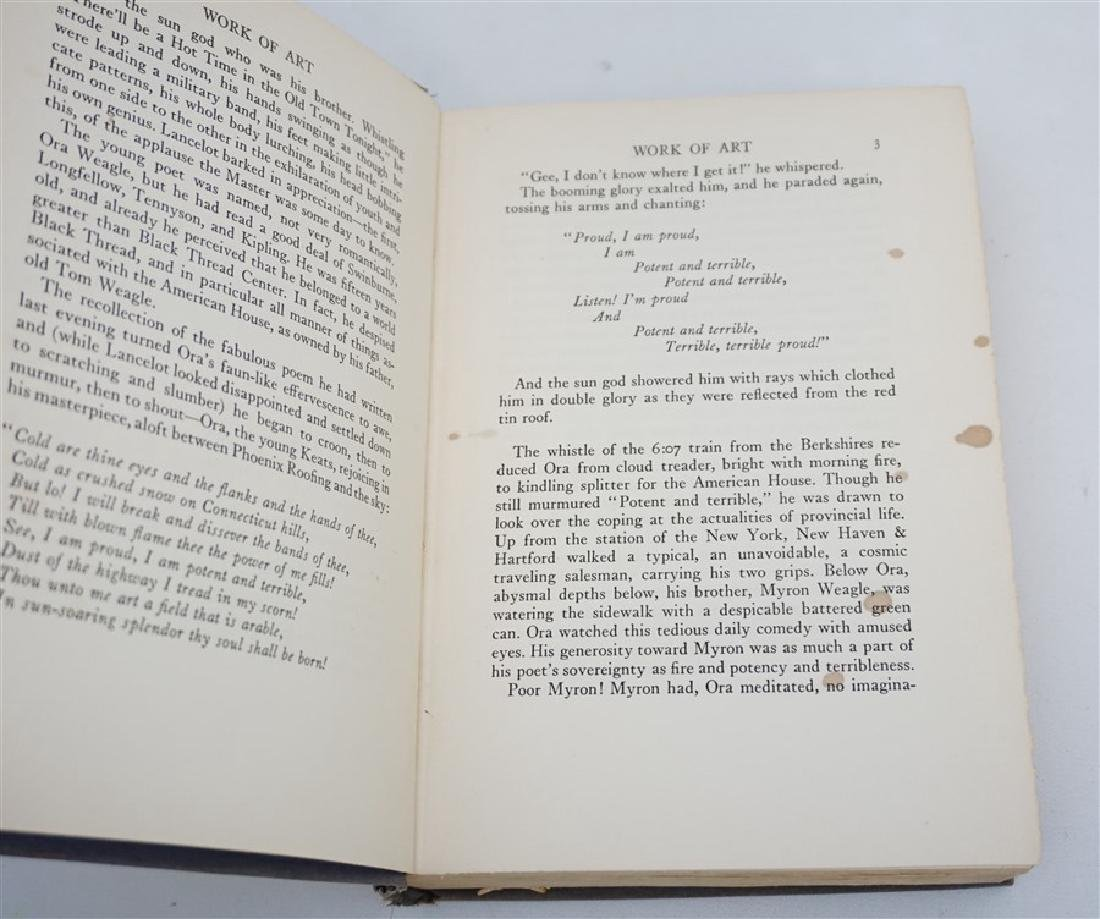 FIRST EDITION SINCLAIR LEWIS WORK OF ART 1934 - 4