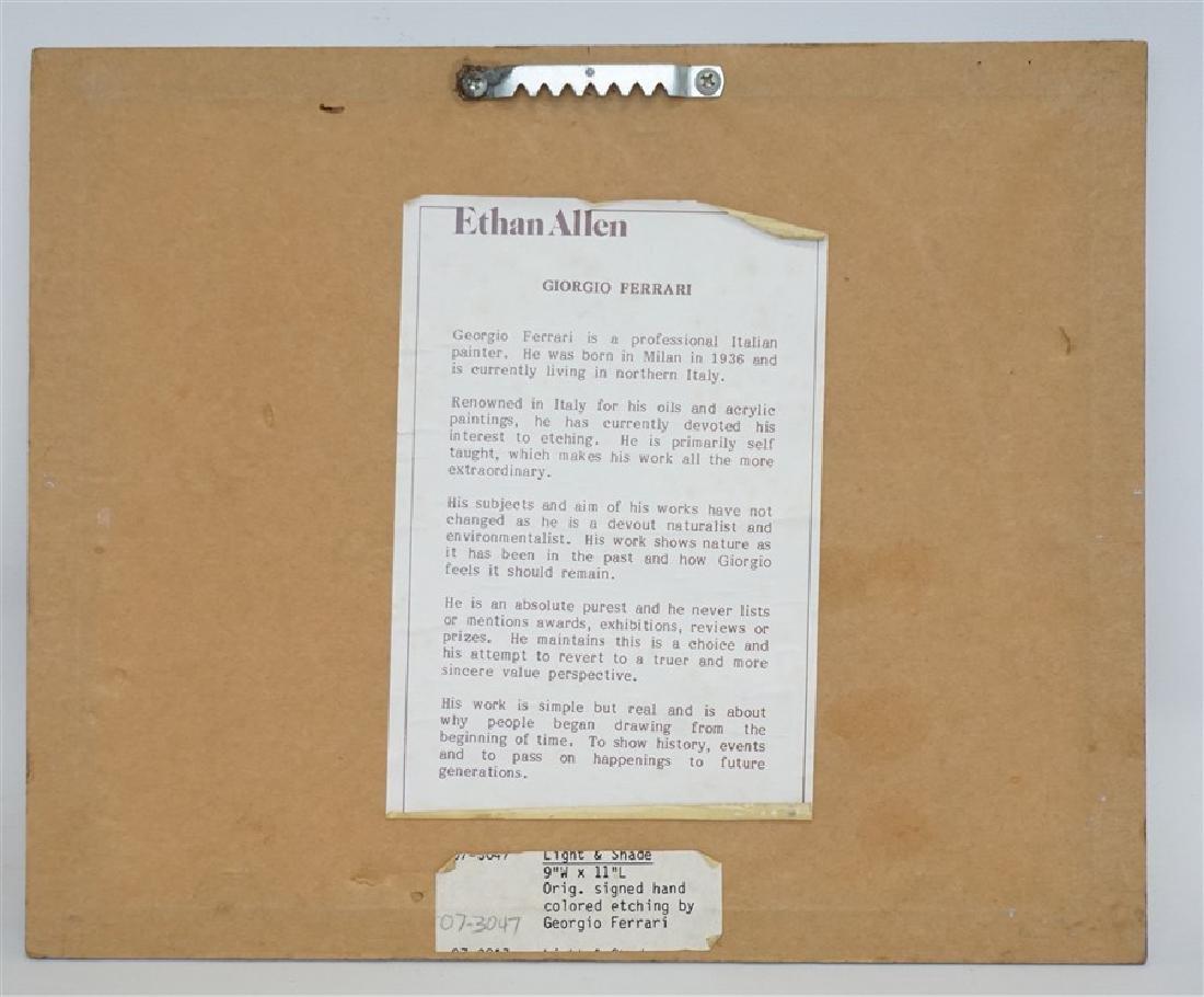 GIORGIO FERRARI ETCHING ETHAN ALLEN - 4