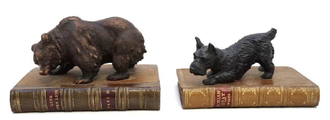 2 BEAR & SCOTTY ON BOOKS BOOKENDS