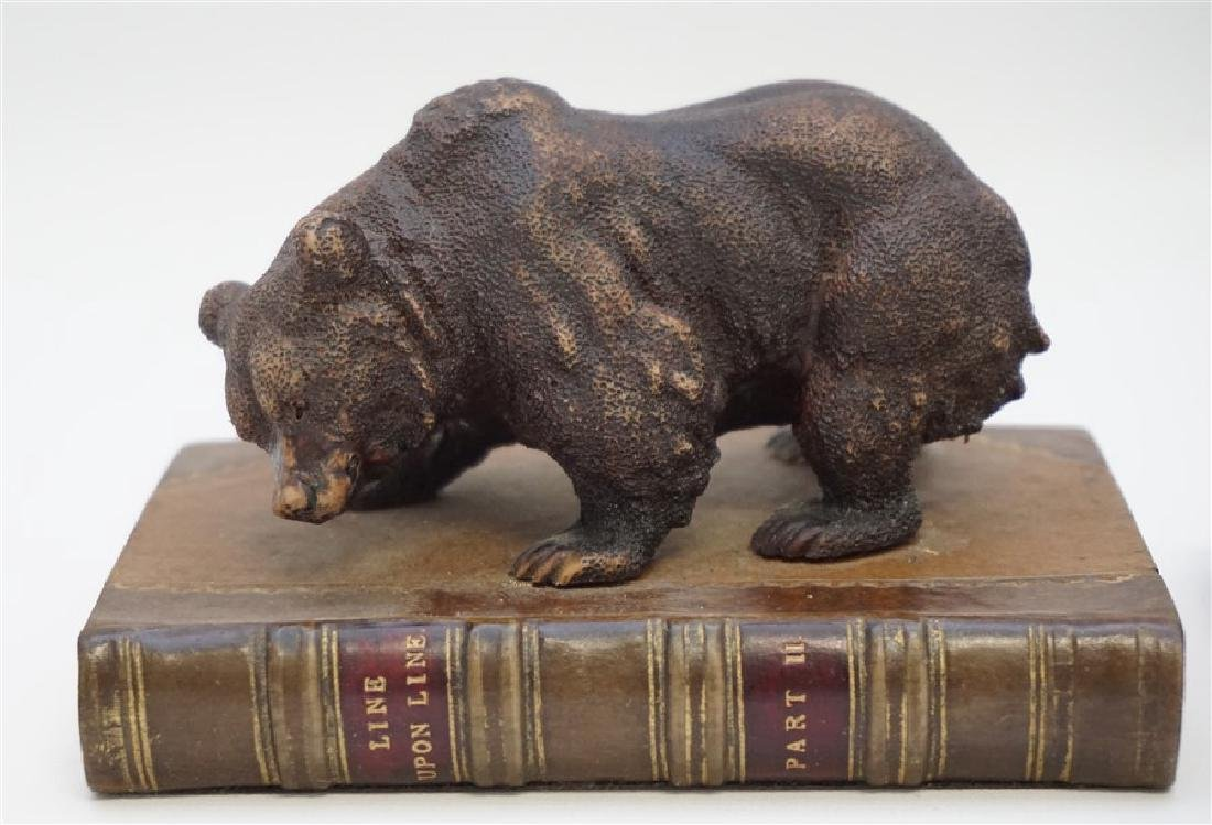 2 BEAR & SCOTTY ON BOOKS BOOKENDS - 2