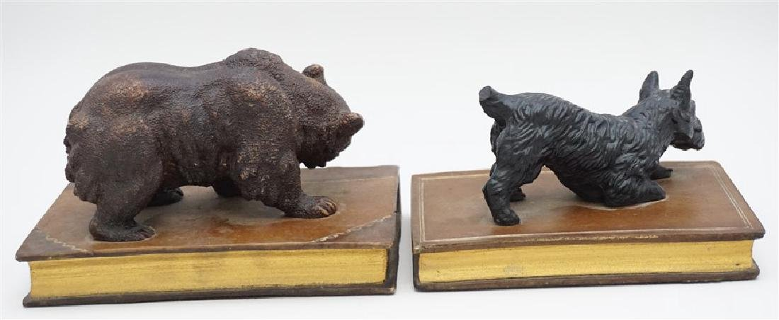 2 BEAR & SCOTTY ON BOOKS BOOKENDS - 5
