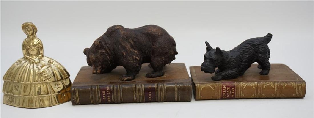 2 BEAR & SCOTTY ON BOOKS BOOKENDS - 7