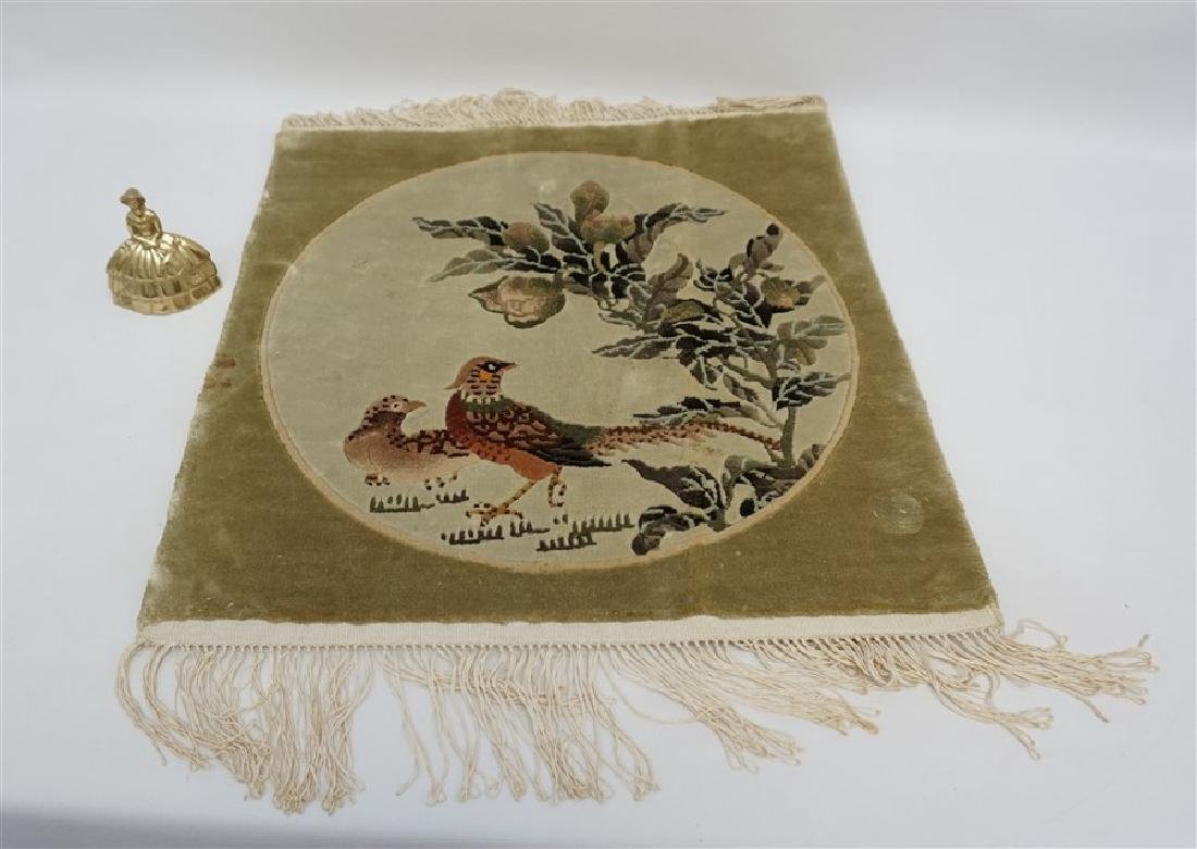 VINTAGE CHINESE SMALL RUG WALL HANGING - 6