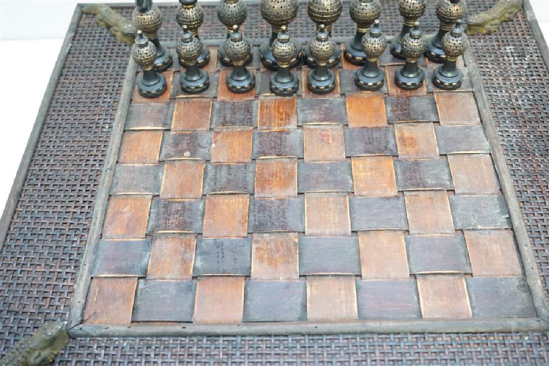 NEW CHESS SET ALLIGATOR ACCENTS - 6