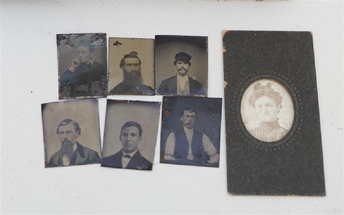 TIN TYPE MINIATURE PHOTO ALBUM 24 PORTRAITS - 2