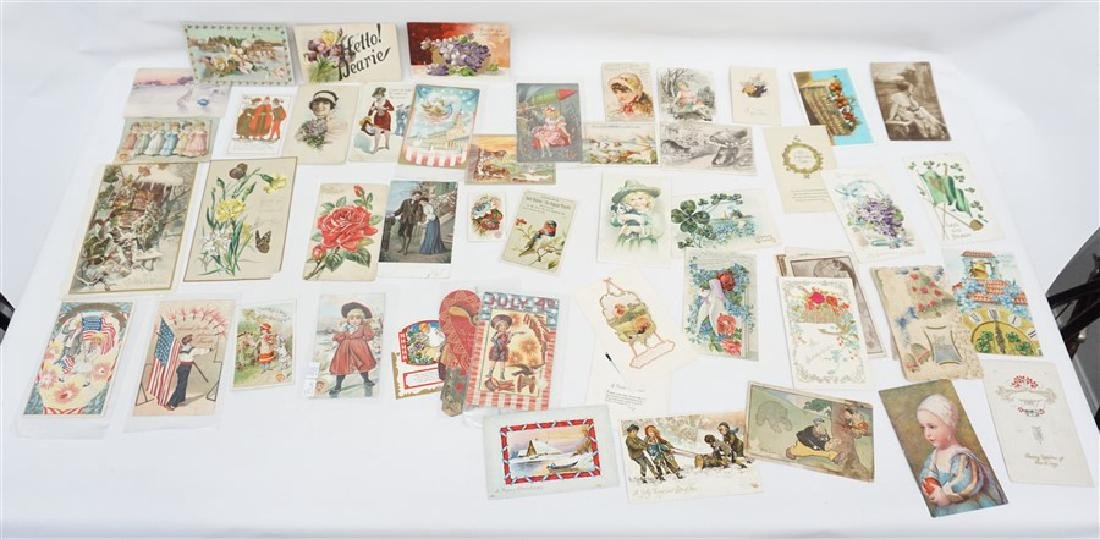 50 VICTORIAN POSTCARDS / TRADECARDS