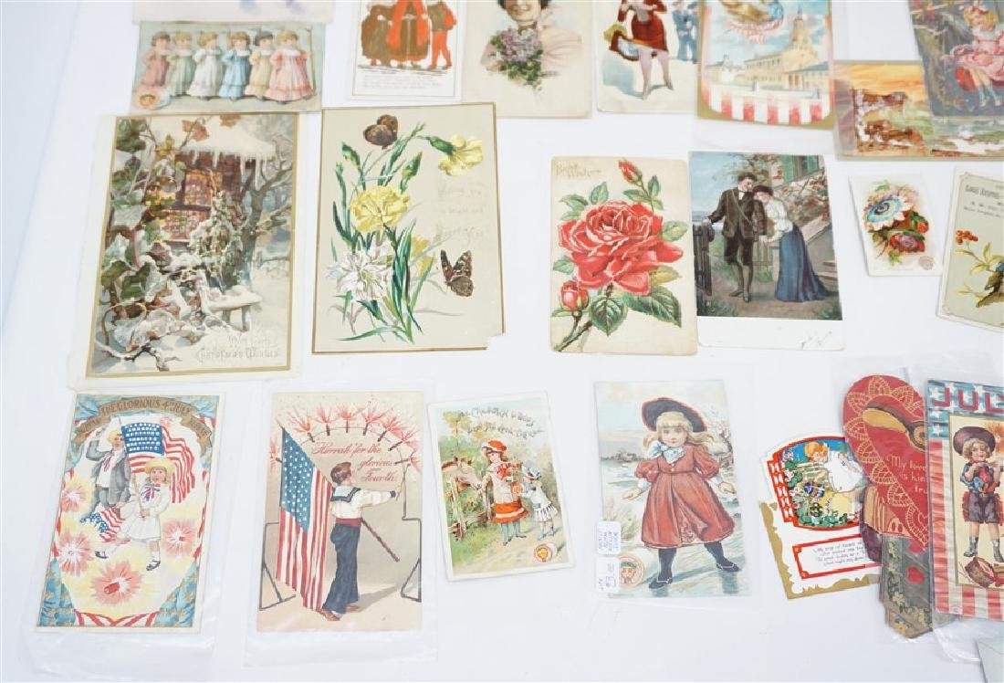 50 VICTORIAN POSTCARDS / TRADECARDS - 2