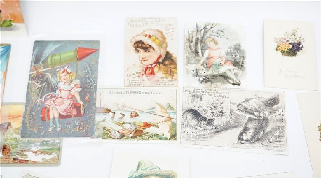 50 VICTORIAN POSTCARDS / TRADECARDS - 4