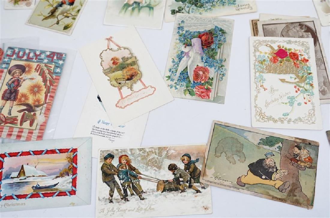 50 VICTORIAN POSTCARDS / TRADECARDS - 7