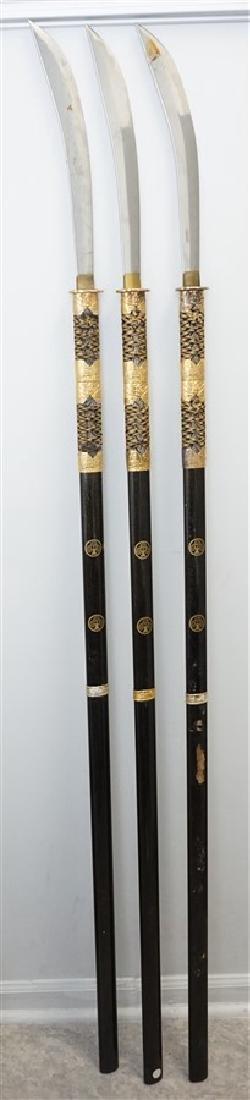 3 JAPANESE SAMURAI NAGINATA - 2
