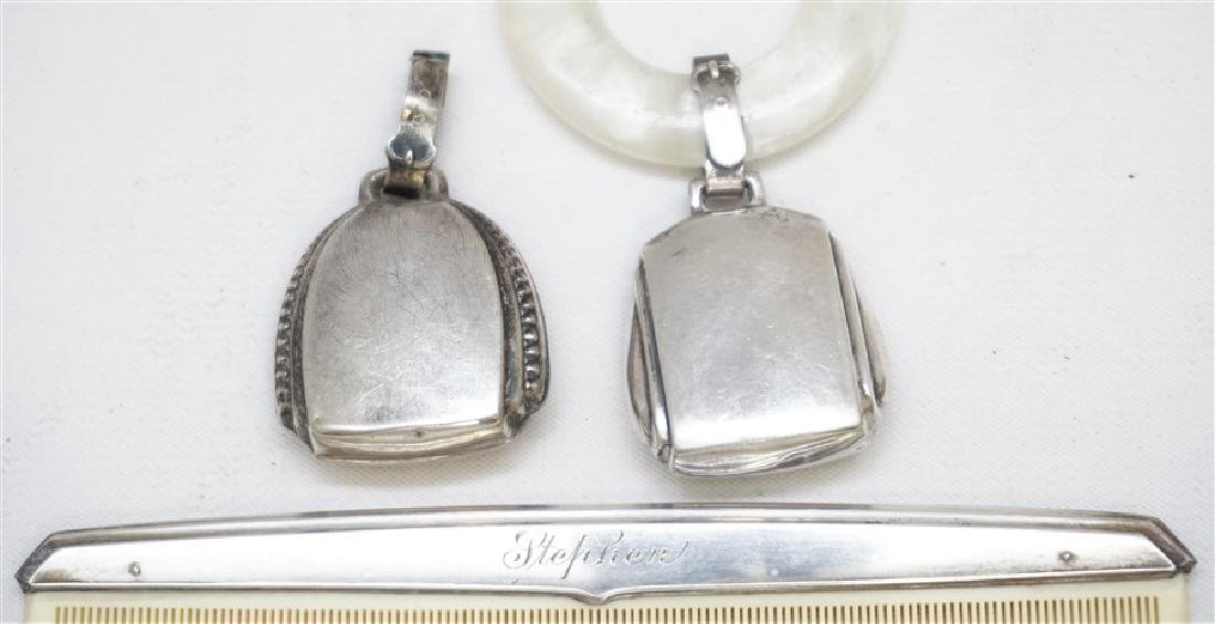 3PC STERLING SILVER BABY ITEMS - 2