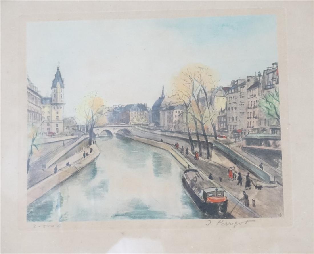 PAIR MID CENTURY PARIS WATERCOLOR LITHOS - 3