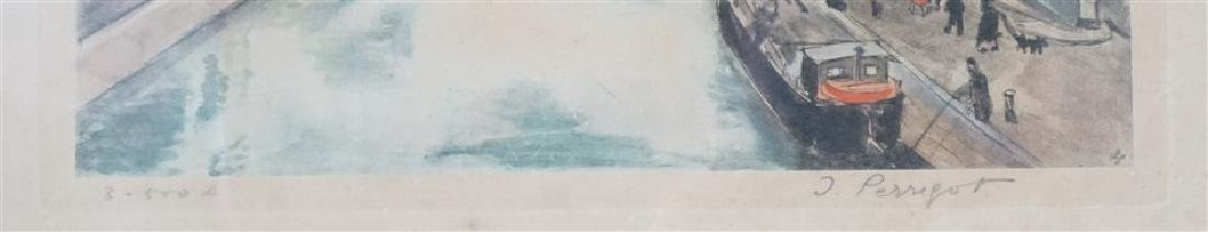 PAIR MID CENTURY PARIS WATERCOLOR LITHOS - 4
