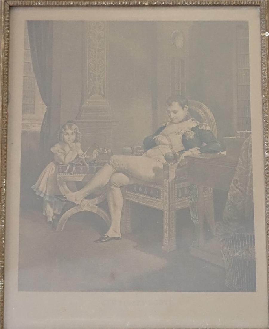 19th c. NAPOLEON WITH DAUGHTER ENGRAVING - 2