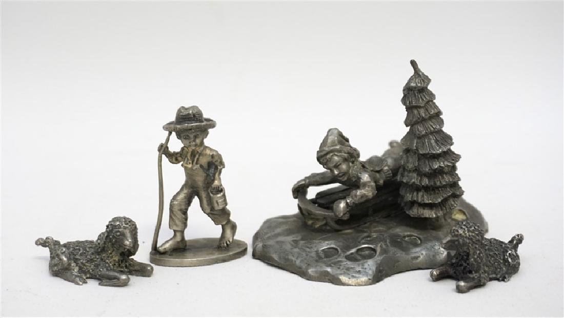 4 pc VINTAGE PEWTER COLLECTIBLES