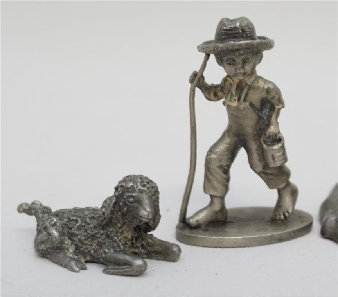 4 pc VINTAGE PEWTER COLLECTIBLES - 2