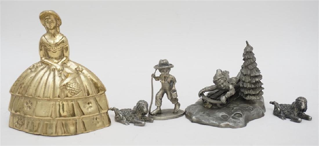 4 pc VINTAGE PEWTER COLLECTIBLES - 4