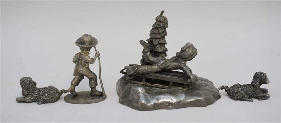 4 pc VINTAGE PEWTER COLLECTIBLES - 5