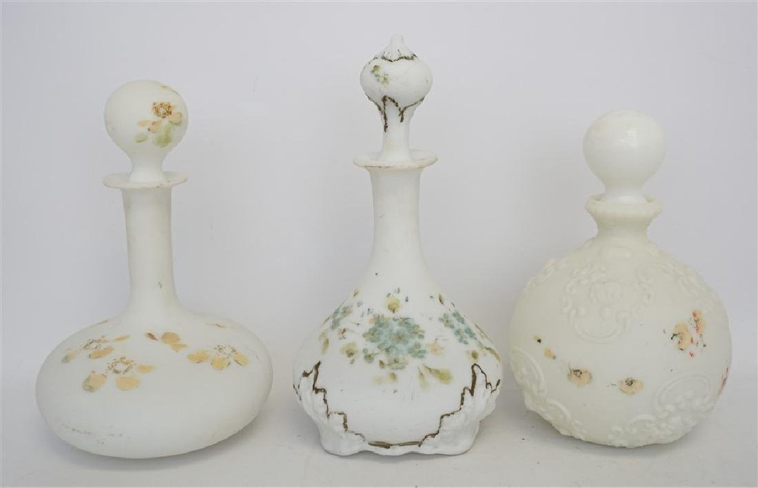 Antique milk glass barber bottles 3 antique milk glass barber bottles floridaeventfo Gallery