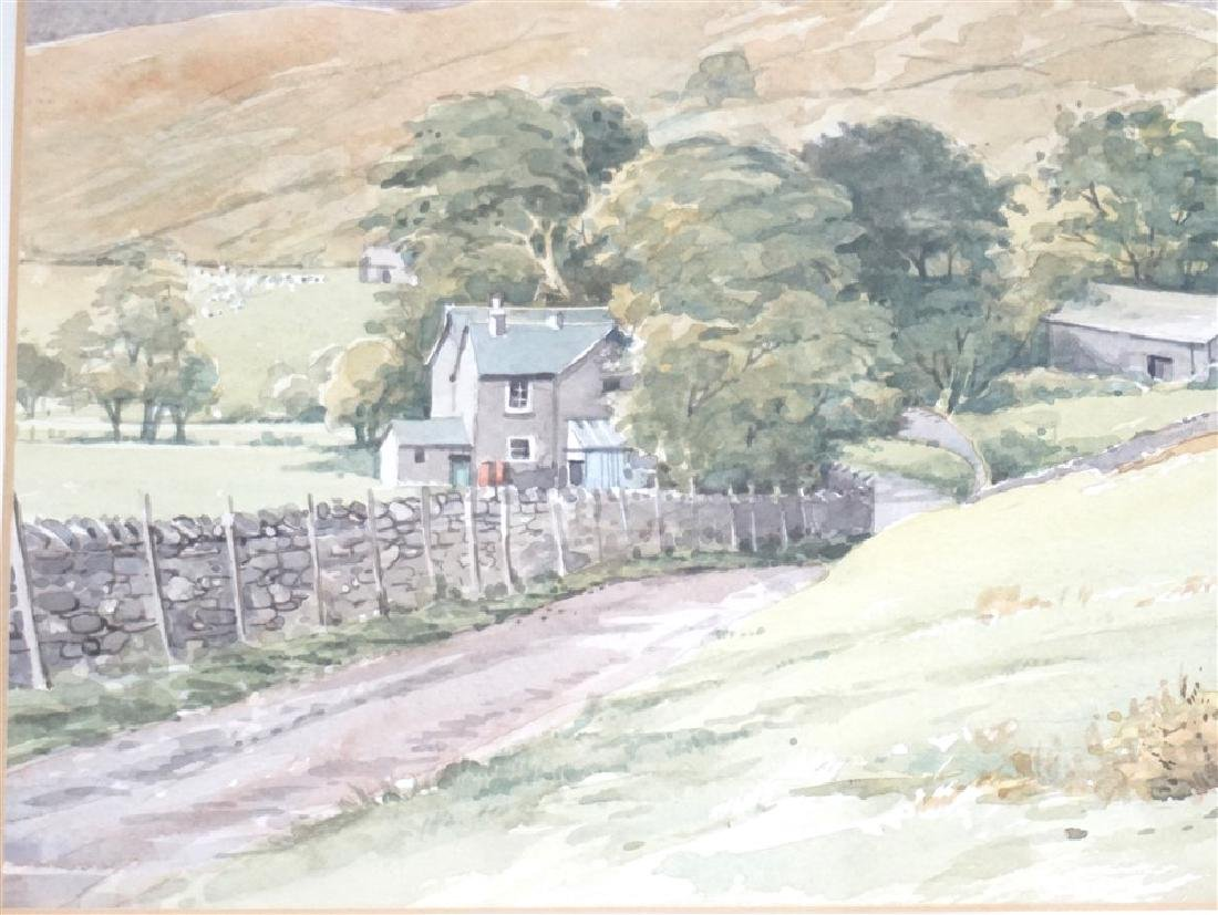 ORIGINAL EDDIE LOWDON WATERCOLOR HURST FARM - 4