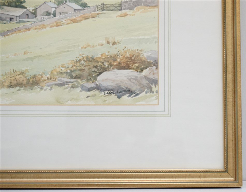 ORIGINAL EDDIE LOWDON WATERCOLOR HURST FARM - 6