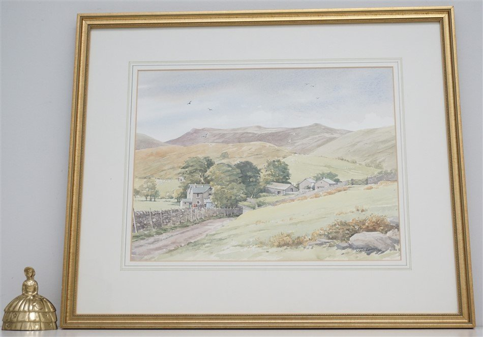 ORIGINAL EDDIE LOWDON WATERCOLOR HURST FARM - 7