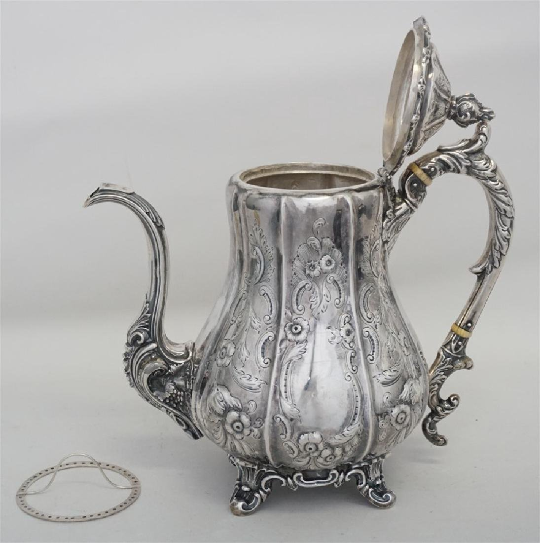 SOUTHERN COIN SILVER COFFEE POT CHARLESTON - 9