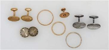 ASSORTMENT OF GOLD & STERLING JEWELRY (14KT@ 13.40