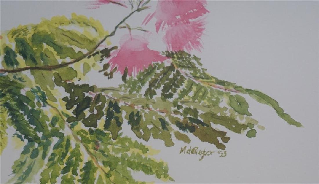 MIMOSA TREE WATERCOLOR M CONNELL-DE-RUTER - 4