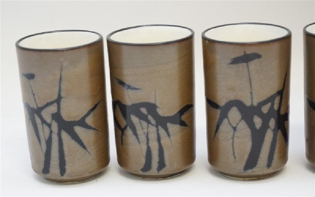 6 TRADITIONAL JAPANESE CUPS IN WOOD PRESENTATION BOX - 3