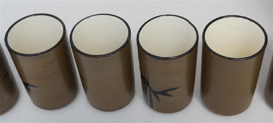 6 TRADITIONAL JAPANESE CUPS IN WOOD PRESENTATION BOX - 6