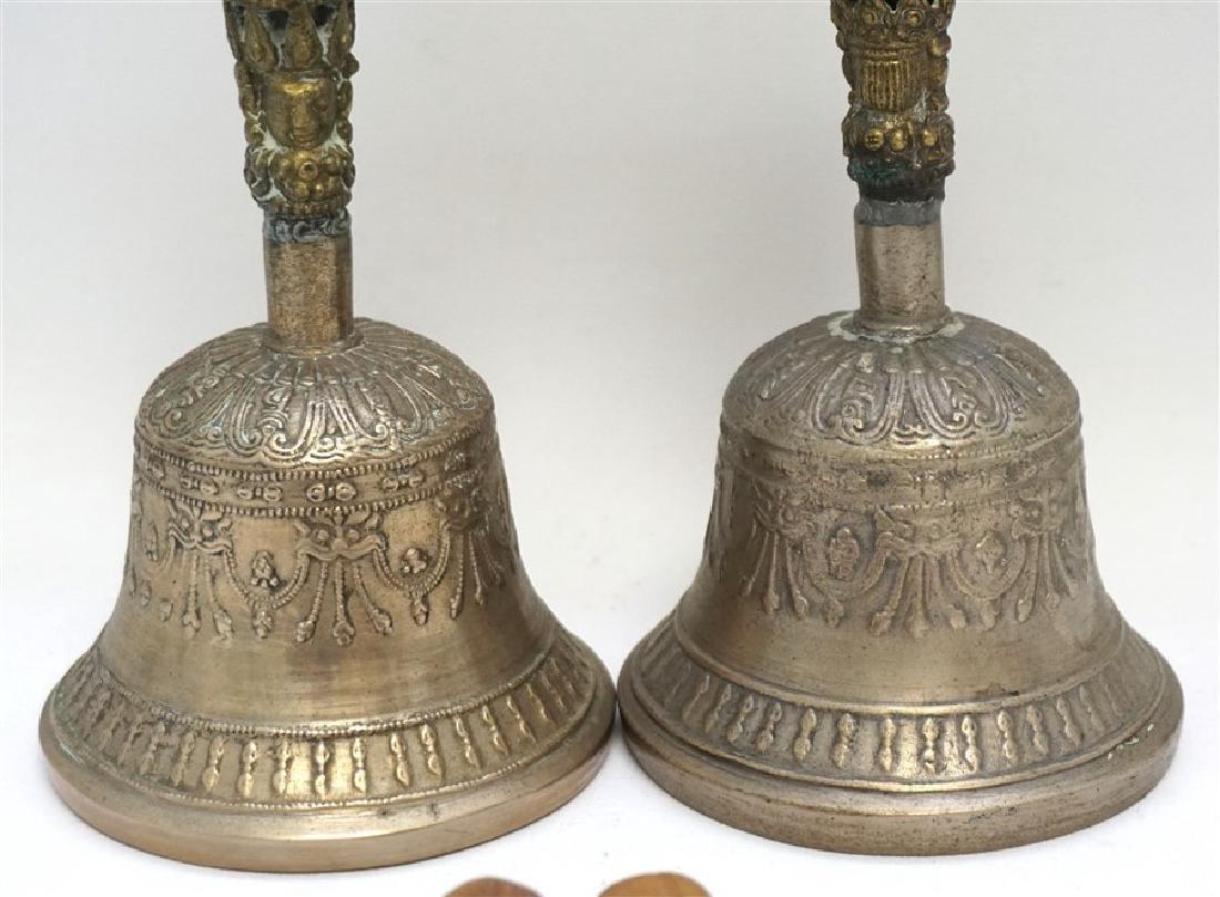 PAIR TIBETAN SINGING BELLS W MALLETS - 3