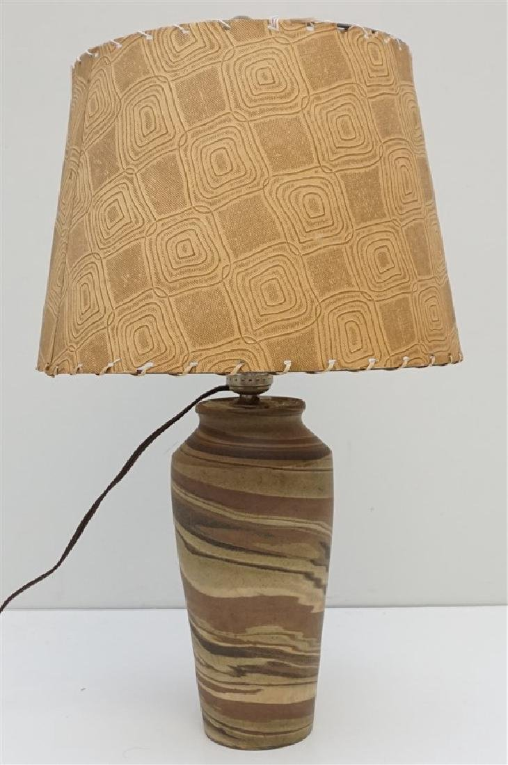 NILOAK MISSIONWARE POTTERY TABLE LAMP
