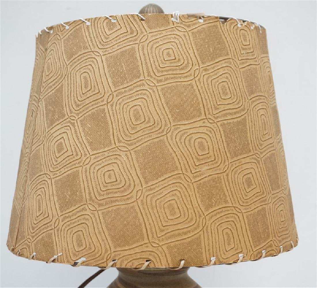 NILOAK MISSIONWARE POTTERY TABLE LAMP - 3