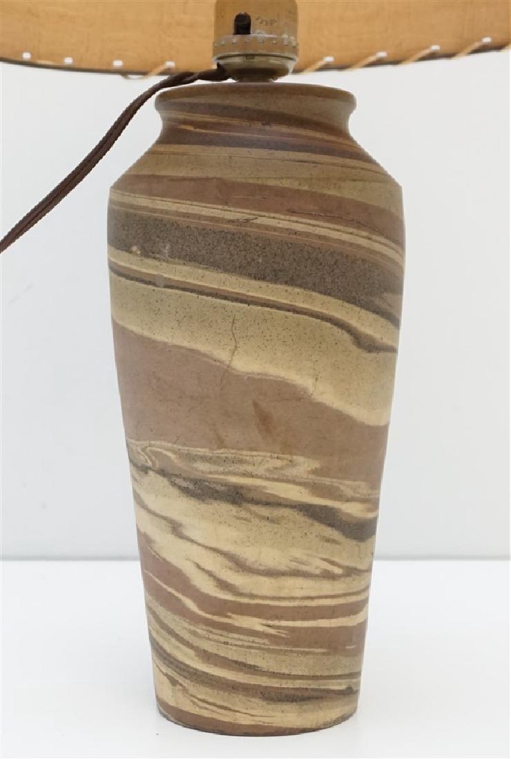 NILOAK MISSIONWARE POTTERY TABLE LAMP - 5