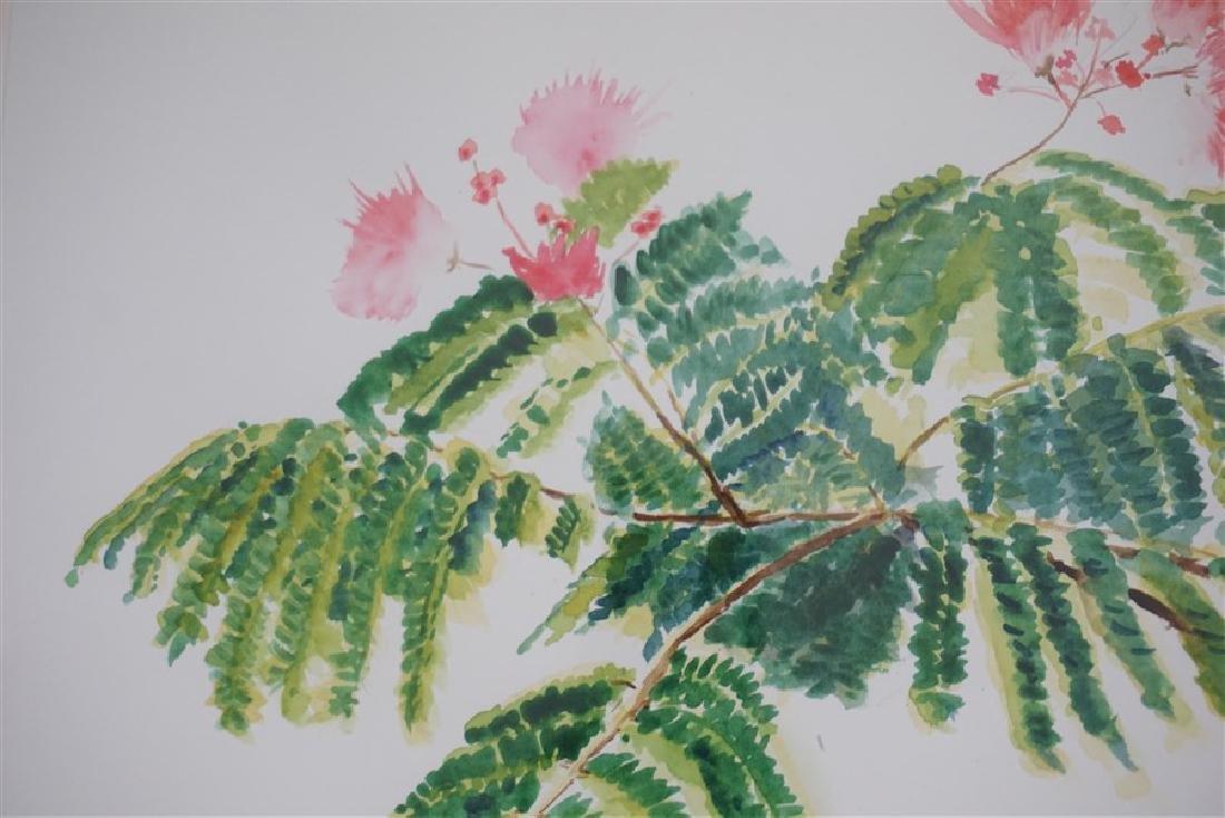MIMOSA TREE WATERCOLOR M CONNELL-DE-RUTER - 3