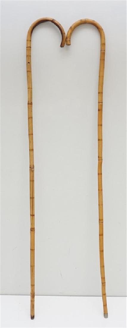 2PC VINTAGE BAMBOO CANES