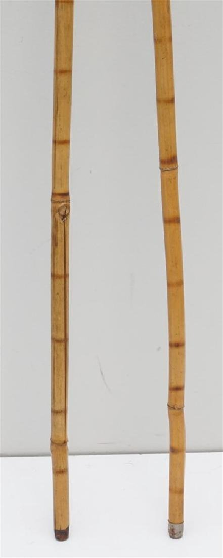 2PC VINTAGE BAMBOO CANES - 6