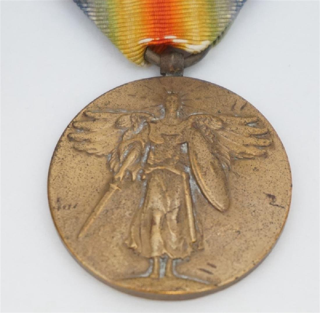 3 PC WWI & WWII BRONZE MEDALS & STERLING SILVER - 4