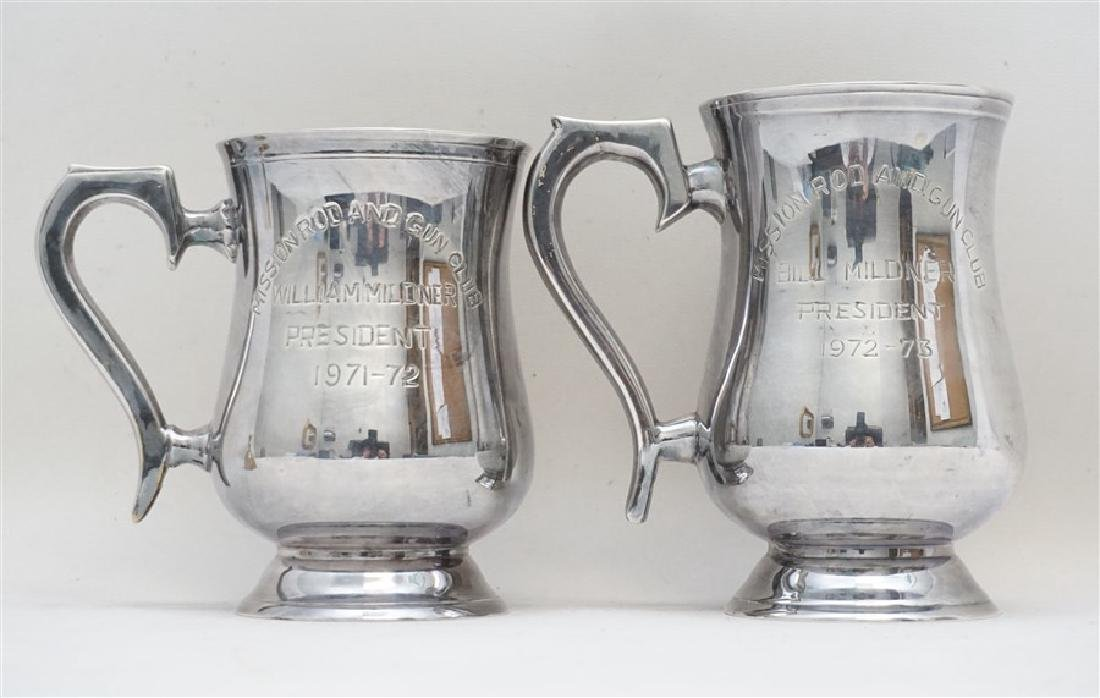 2 AMERICAN EMBASSY NEW DELHI ROD & GUN CLUB STEINS - 4