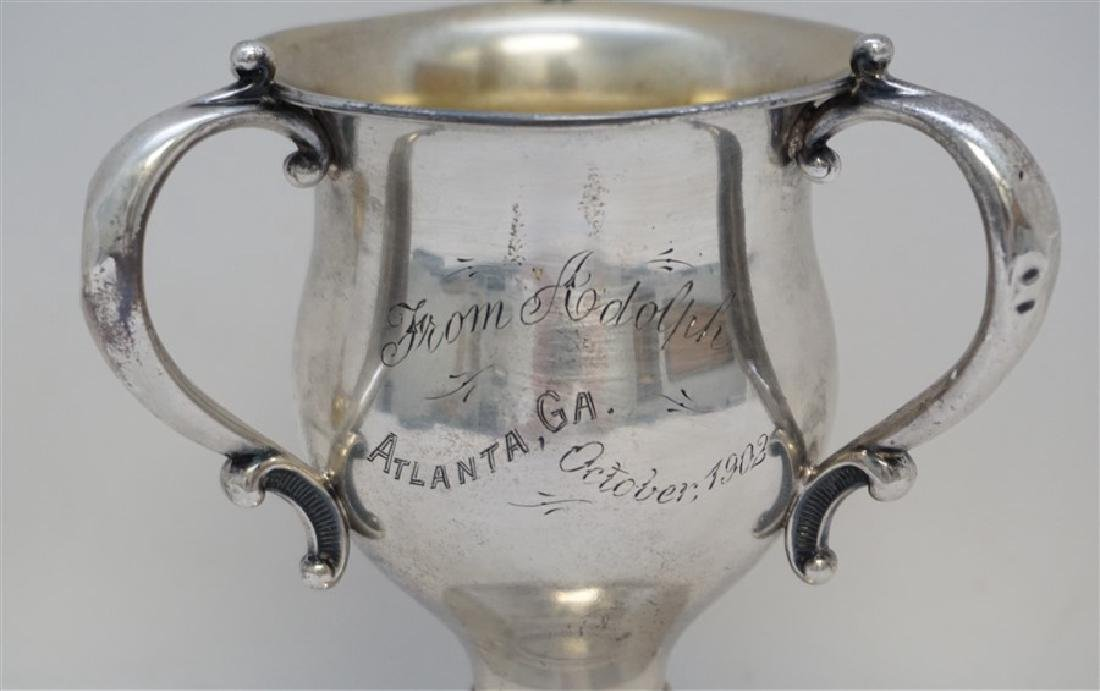 1902 STERLING SILVER LOVING CUP TROPHY - 3