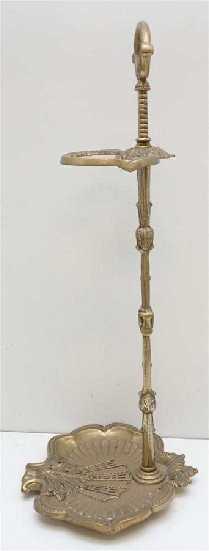 ORNATE CAST BRASS UMBRELLA / FIREPLACE STAND - 5