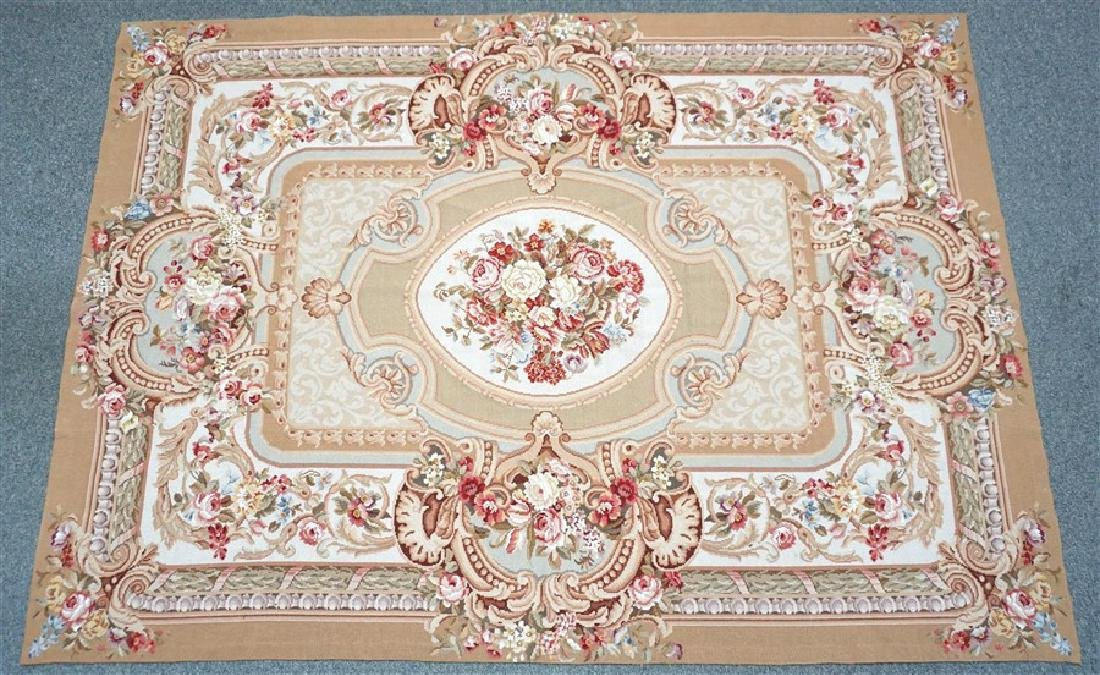 FRENCH SAVONNERIE RUG ROSES